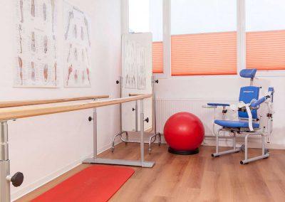 Gehbarren und Schultermotorschiene des Physiotherapiezentrum Bühl